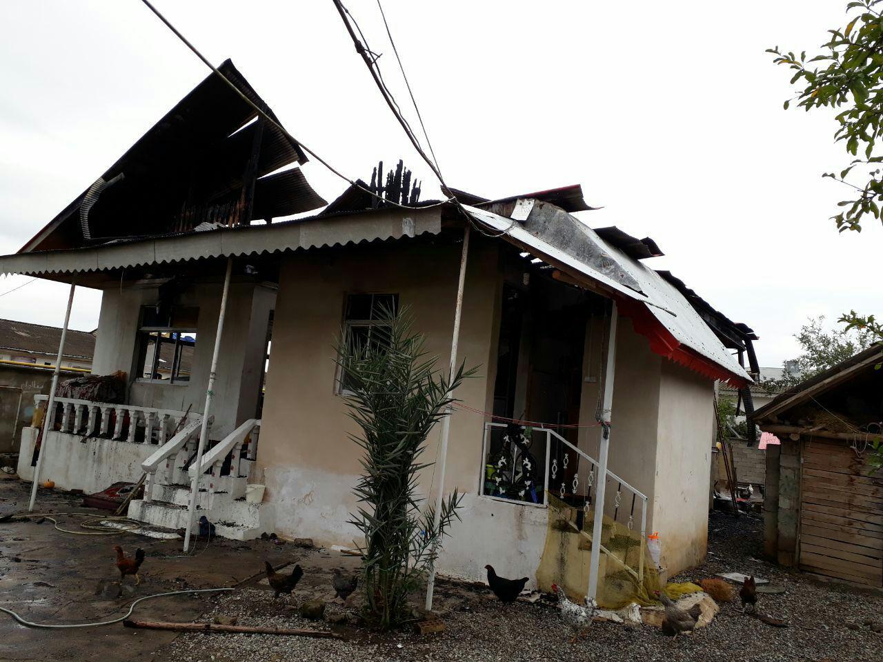 آتش سوزی یک واحد مسکونی در صومعه سرا+عکس