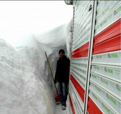 ارتفاع برف در اسپیلی دیلمان به دو متر می رسد! +عکس