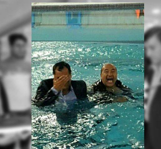 اقدام عجیب نماینده و فرماندار در مراسم افتتاح یک استخر+ عکس