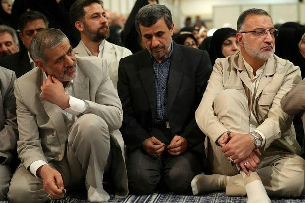 حضور احمدی نژاد در دیدار مسئولان و کارگزاران نظام با رهبر معظم انقلاب + عکس