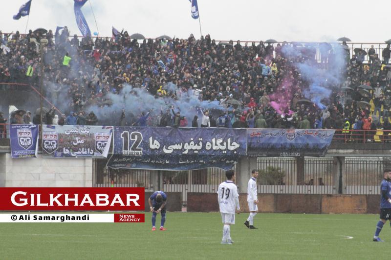 گزارش تصویری مسابقه داماش گیلان(۰)-ملوان(۰)